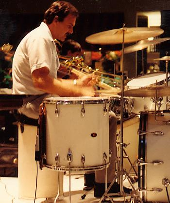 DICK CULLY PLAYING DRUMS